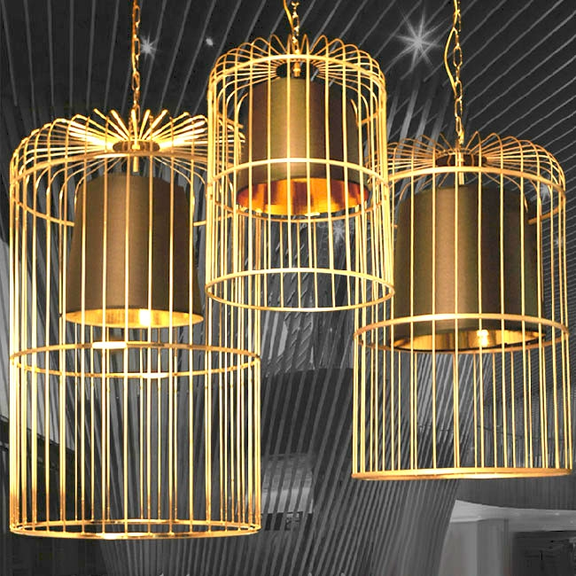 Awesome Widely Used Birdcage Pendant Lights Pertaining To Modern Golden Birdcage Pendant Lighting In Baking Finish  (Image 4 of 25)