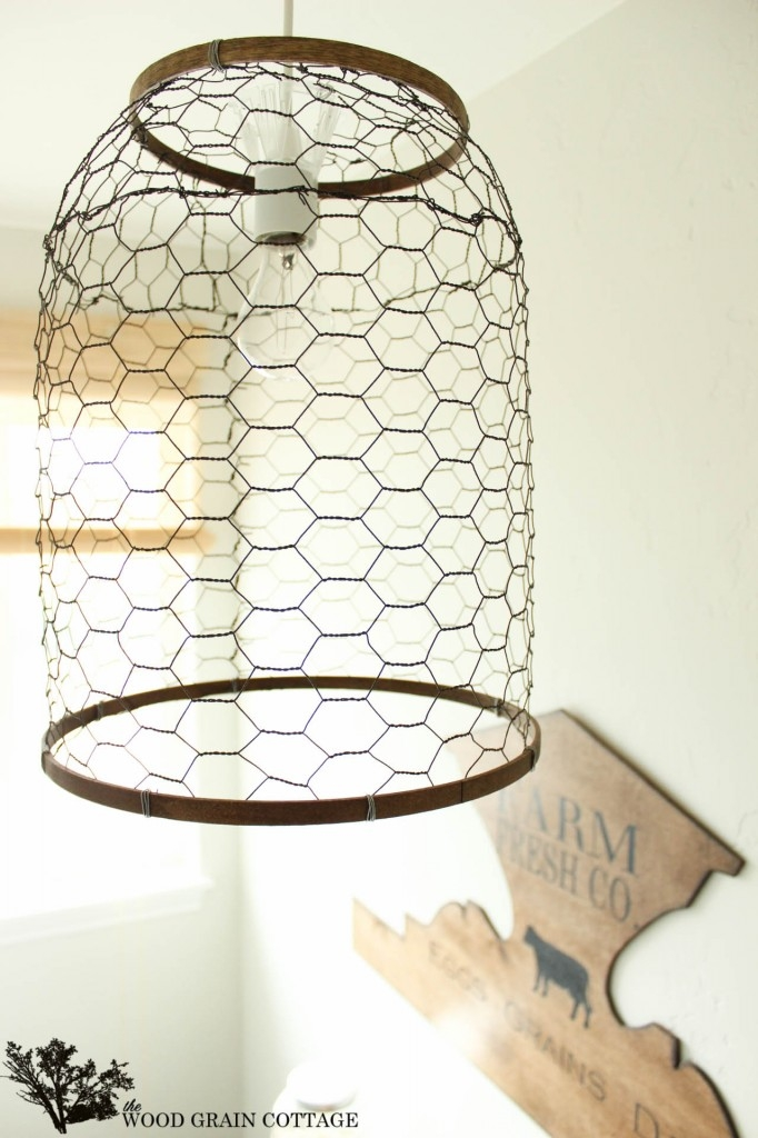 Awesome Widely Used Chicken Wire Pendant Lights Inside Laundry Room Farmhouse Light The Wood Grain Cottage (Image 6 of 25)