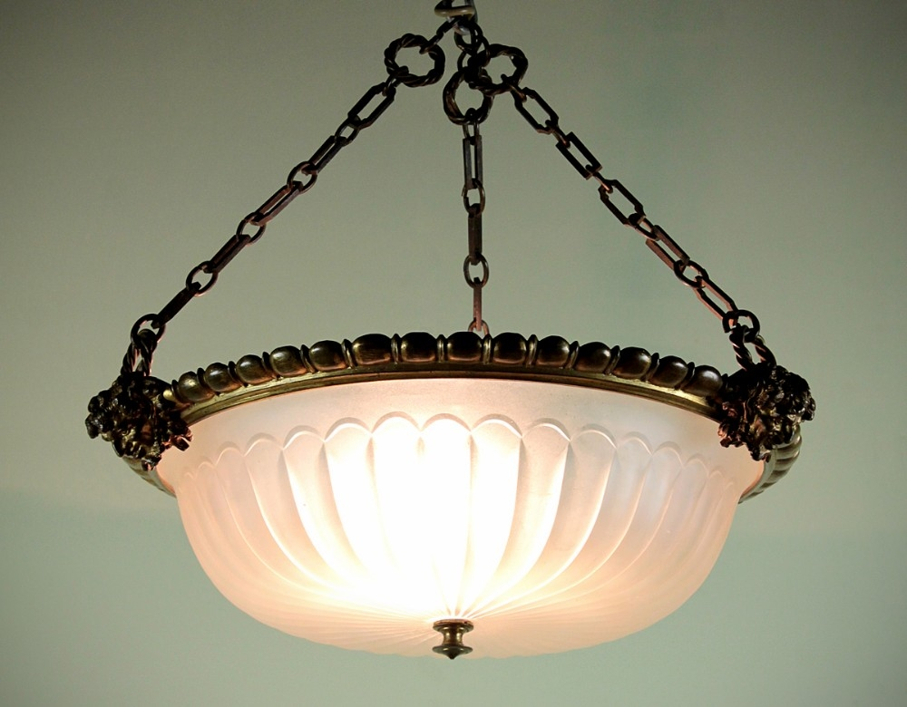 Awesome Widely Used Edwardian Pendant Lights For Edwardian Hanging Light Shade C1905 288571 Sellingantiquescouk (Image 5 of 25)