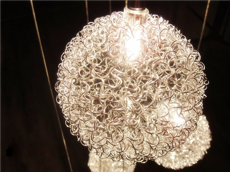 Awesome Widely Used Wire Ball Light Pendants Within Aliexpress Buy 2m Height 10 Lights Aluminum Wire Ball (Image 3 of 25)