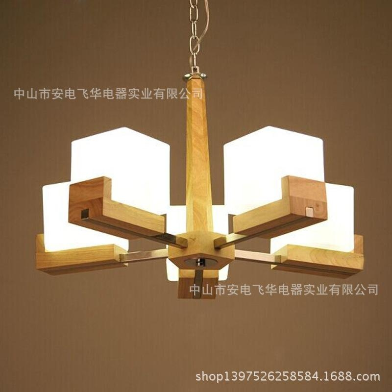 Awesome Widely Used Wooden Pendant Lights For Sale Within Chinese Garden Restaurant American Oak Wooden Bedroom Lamps (Image 7 of 25)