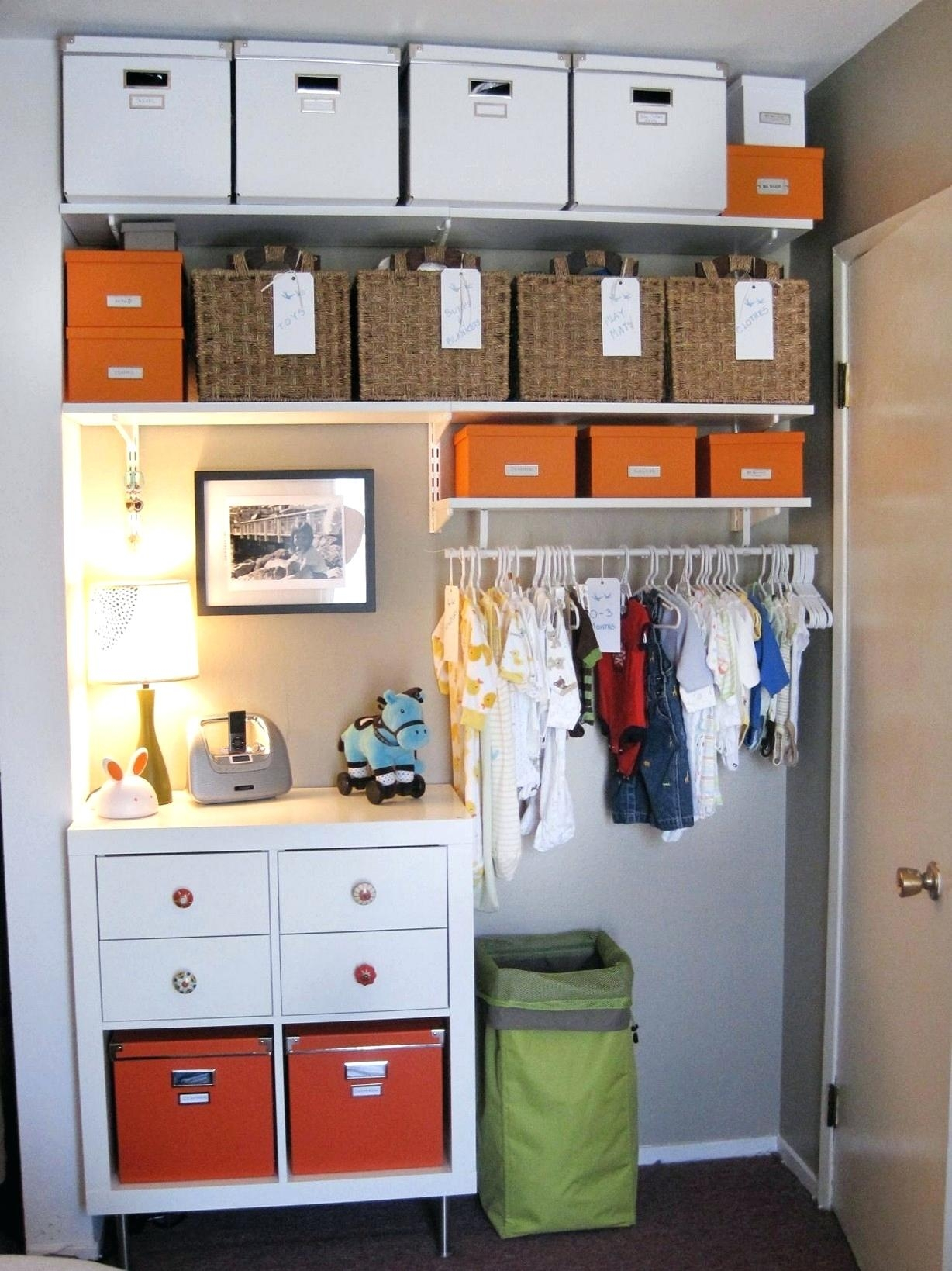 Ba Clothes Storage Ideascloset Ideas Diy Wardrobe Pinterest Throughout Wardrobe For Baby Clothes (Image 6 of 25)