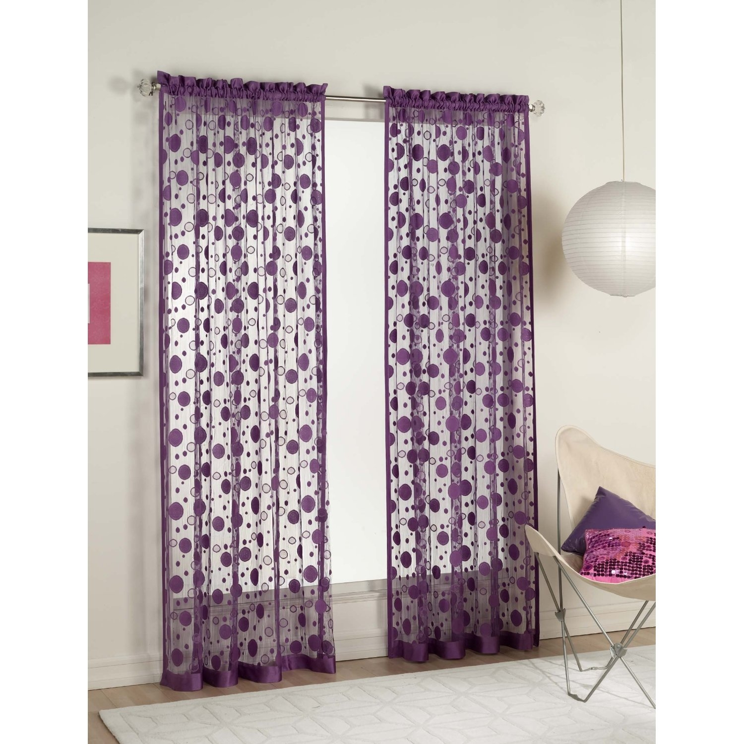 Ba Nursery Decorative Window Curtains For Room Decors Green Regarding Purple Curtains For Kids Room (Image 3 of 25)