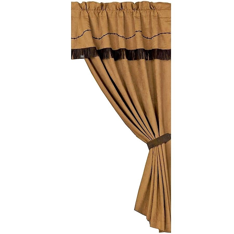 Barbed Wire Curtain Panel Western Curtains Your Western Decor Inside Faux Suede Curtain Panels (Image 4 of 25)