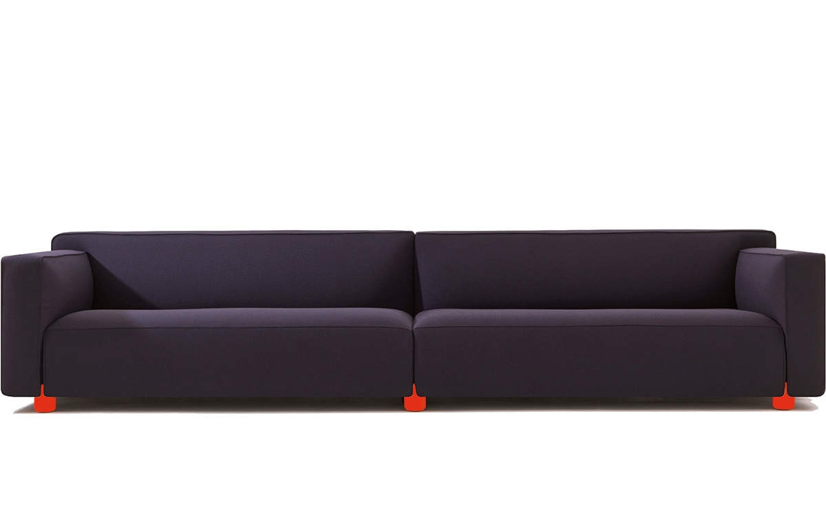 Barber Osger Four Seat Sofa Hivemodern Intended For Four Seat Sofas (Image 3 of 15)
