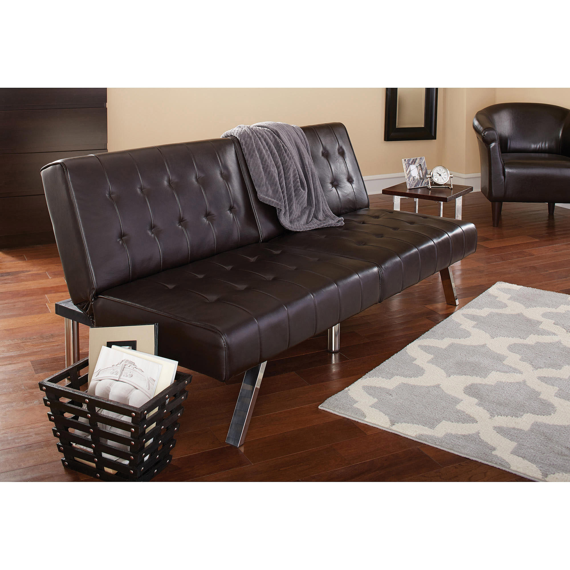 Barcelona Convertible Futon Sofa Bed And Lounger With Pillows With Convertible Sofa Chair Bed (Image 1 of 15)