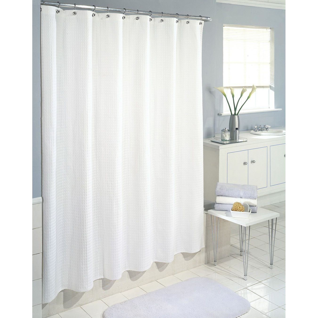 Bath Shower Wonderful Fabric Shower Curtains For Bathroom Within Hookless Fabric Shower Curtain Liner (Image 5 of 25)