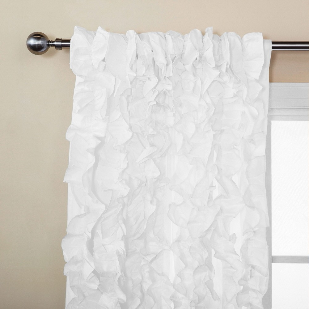Bathroom Awesome White Ruffle Shower Curtain For Excellent Inside White Ruffle Curtains (View 10 of 25)