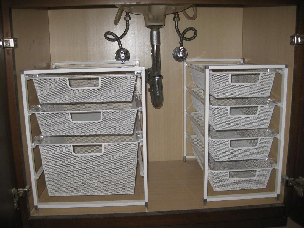 Bathroom Cabinet Organizer Under Sink Bathroom Sinks Decoration Intended For Cupboard Organizers (Image 4 of 25)
