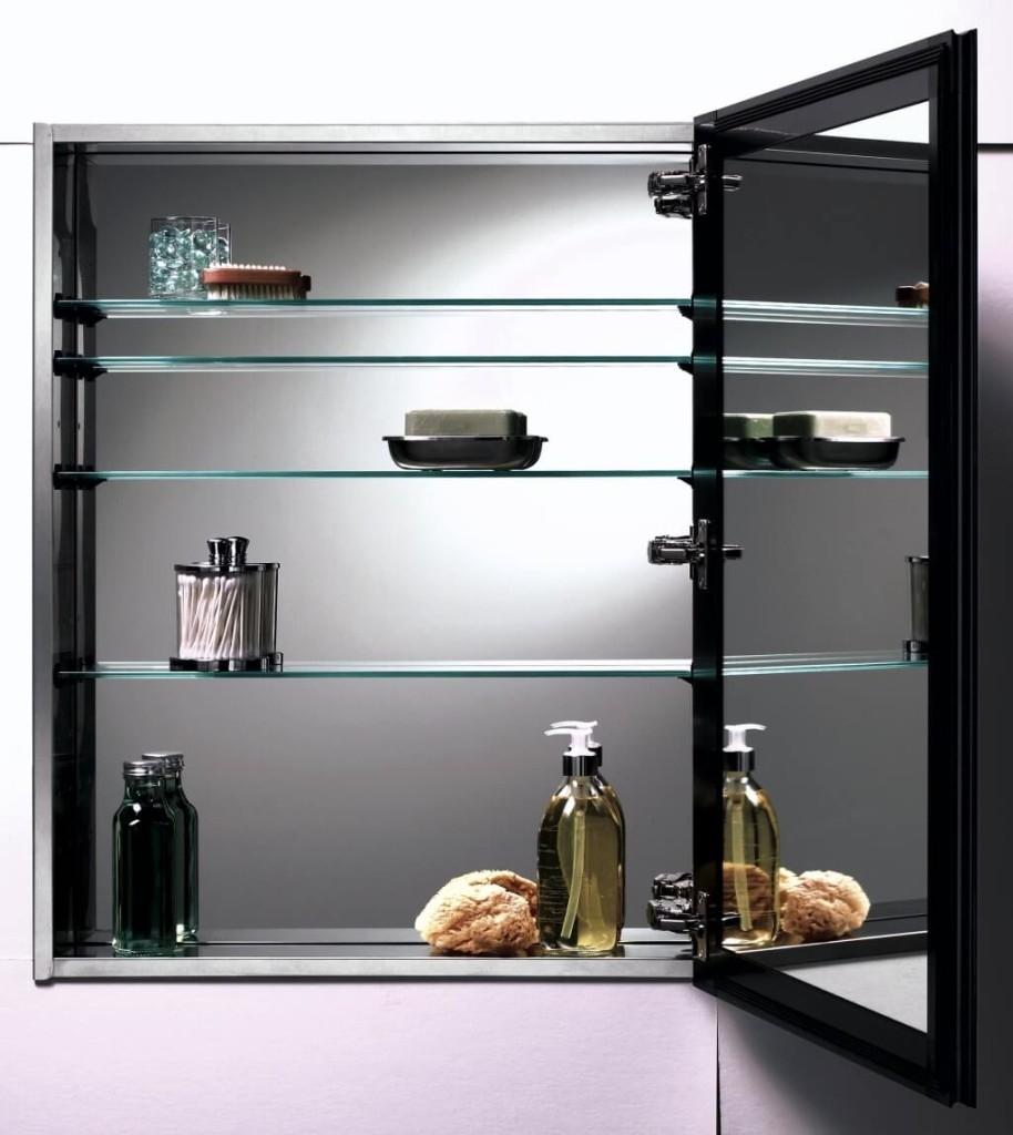 Bathroom Elegant Bathroom Mirror Cabinet Design And Wall Mounted Regarding Bathroom Mirror Cupboards (Image 2 of 25)