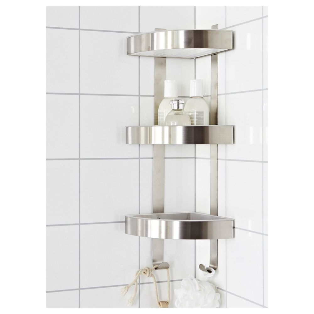 Bathtub Corner Shelves Icsdri With Large Glass Corner Shelves (Image 1 of 15)