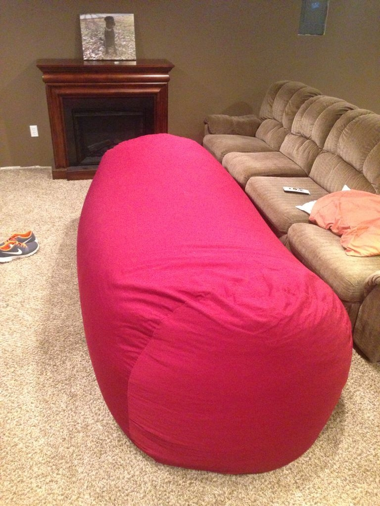 Bean Bag Sofa Bed 8 Steps With Pictures Regarding Bean Bag Sofas And Chairs (Image 4 of 15)