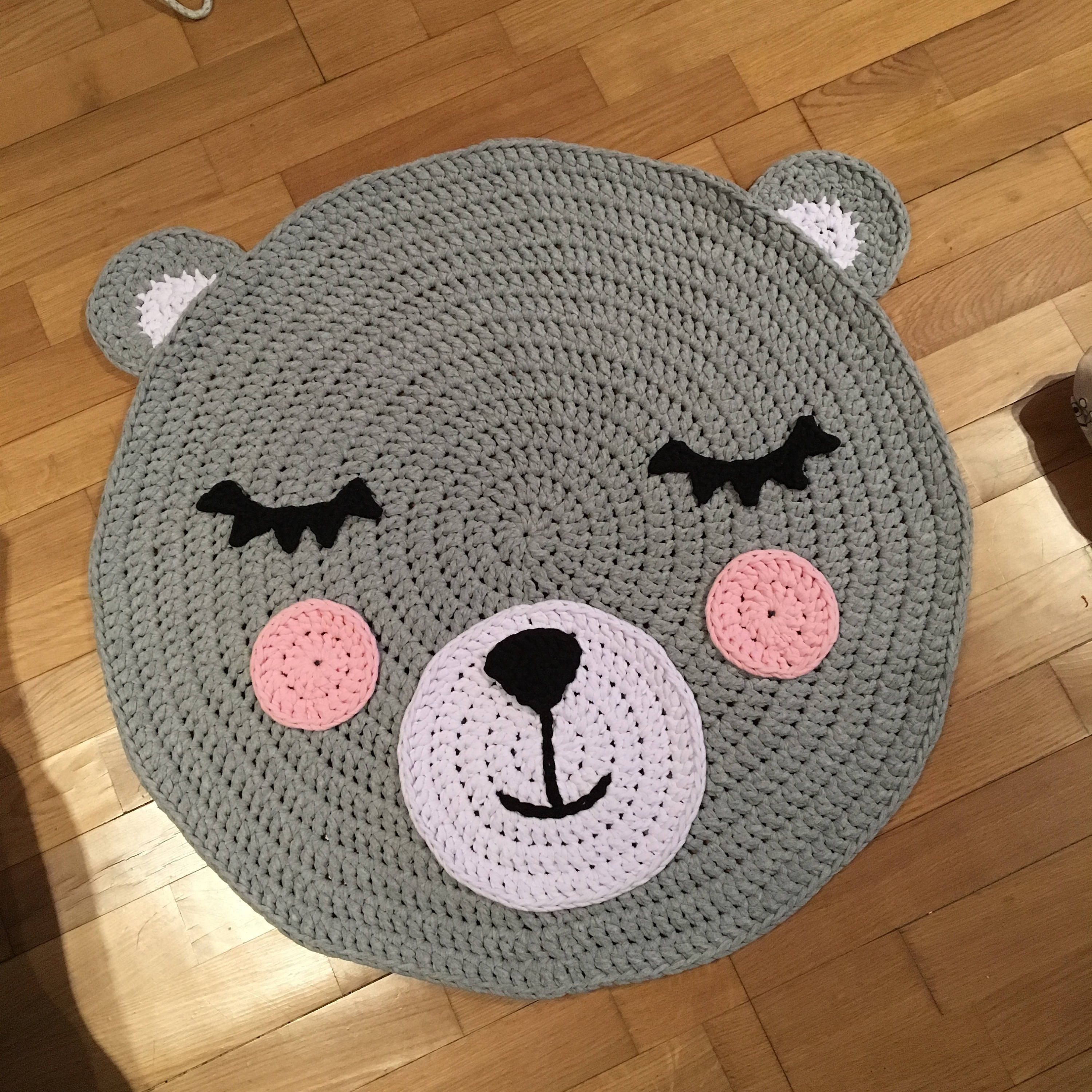 Bear Crochet Rug Etsy Throughout Teddy Bear Rugs (View 10 of 15)