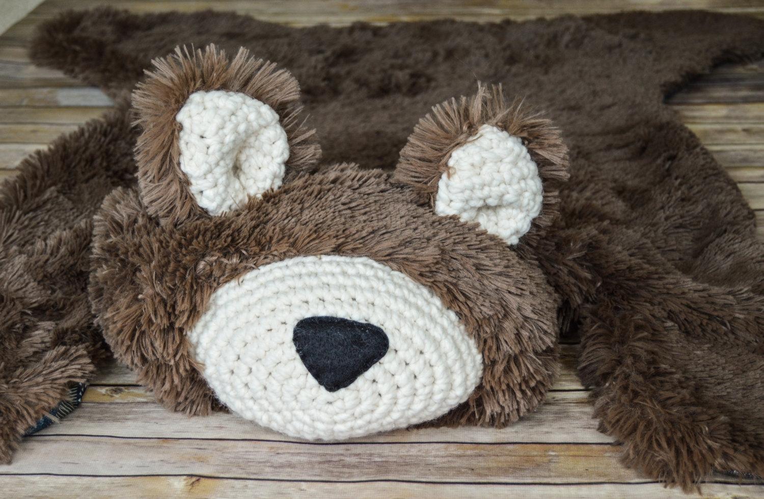 Bear Rug Faux Bear Rug Woodland Nursery Ba Room Decor Regarding Teddy Bear Rugs (Image 2 of 15)