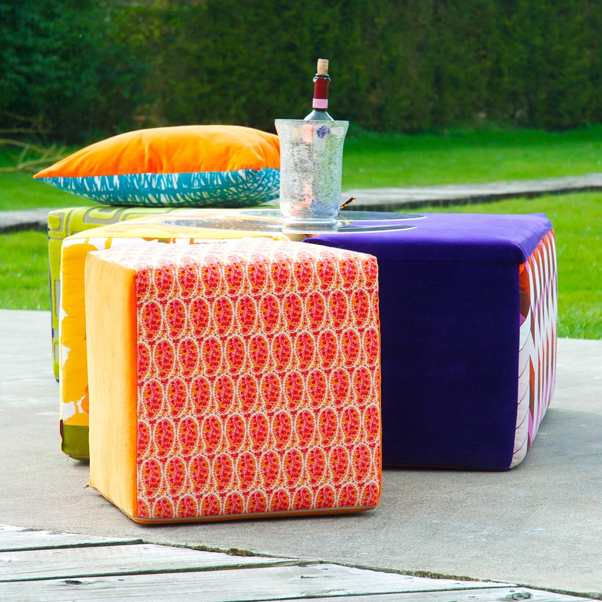 Beautiful And Eye Catching Footstools And Pouffes Crushcube In Footstools And Pouffes (Image 1 of 15)