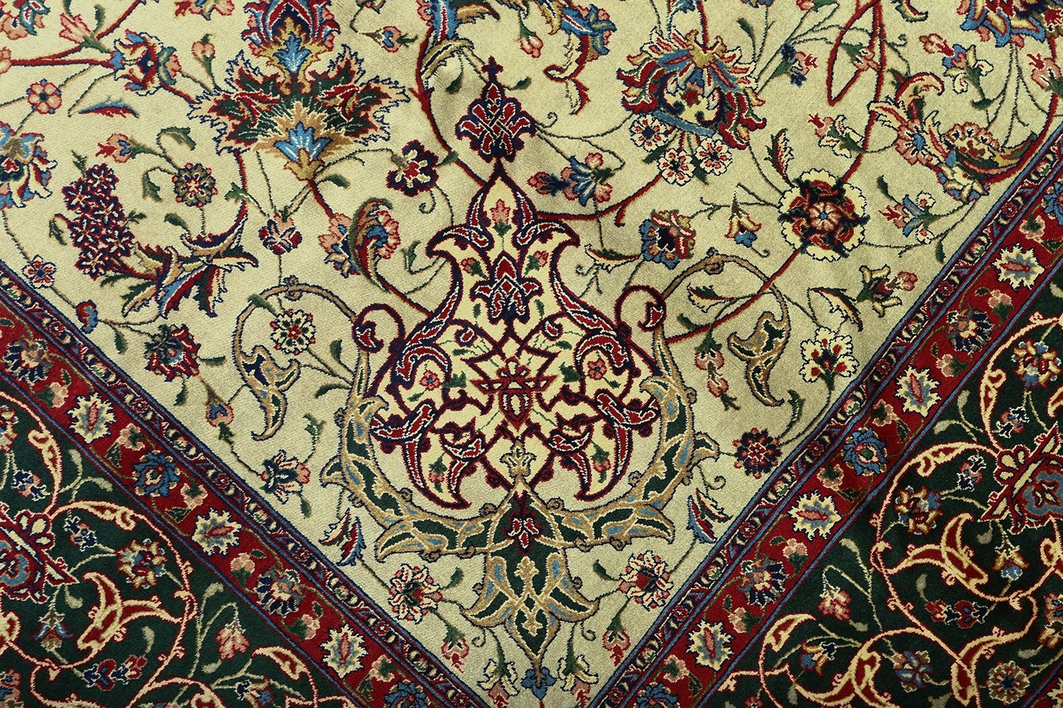Beautiful Green Vintage Tabriz Persian Rug 51109 Nazmiyal Inside Green Persian Rugs (Image 3 of 15)