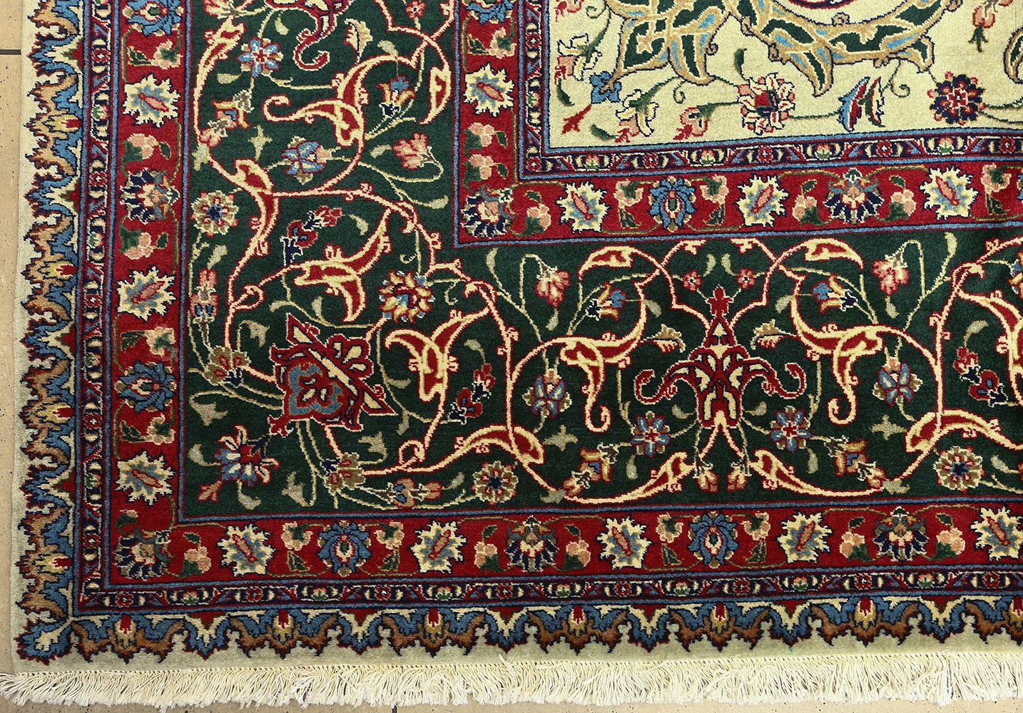 Beautiful Green Vintage Tabriz Persian Rug 51109 Nazmiyal Regarding Green Persian Rugs (Image 5 of 15)