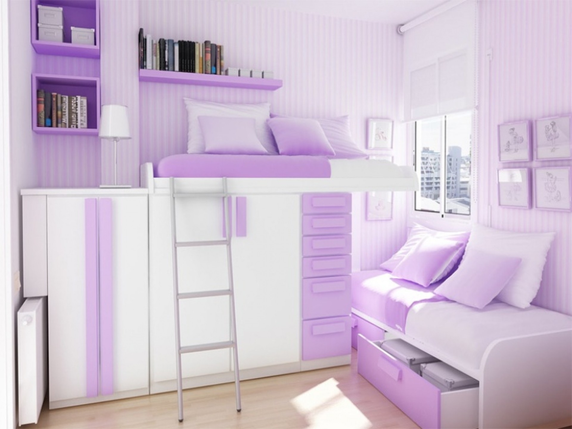 Bedroom Bedroom Colorfull Design Ideas Bed Pillow Frames Pertaining To Space Saving Wardrobes (Image 3 of 25)