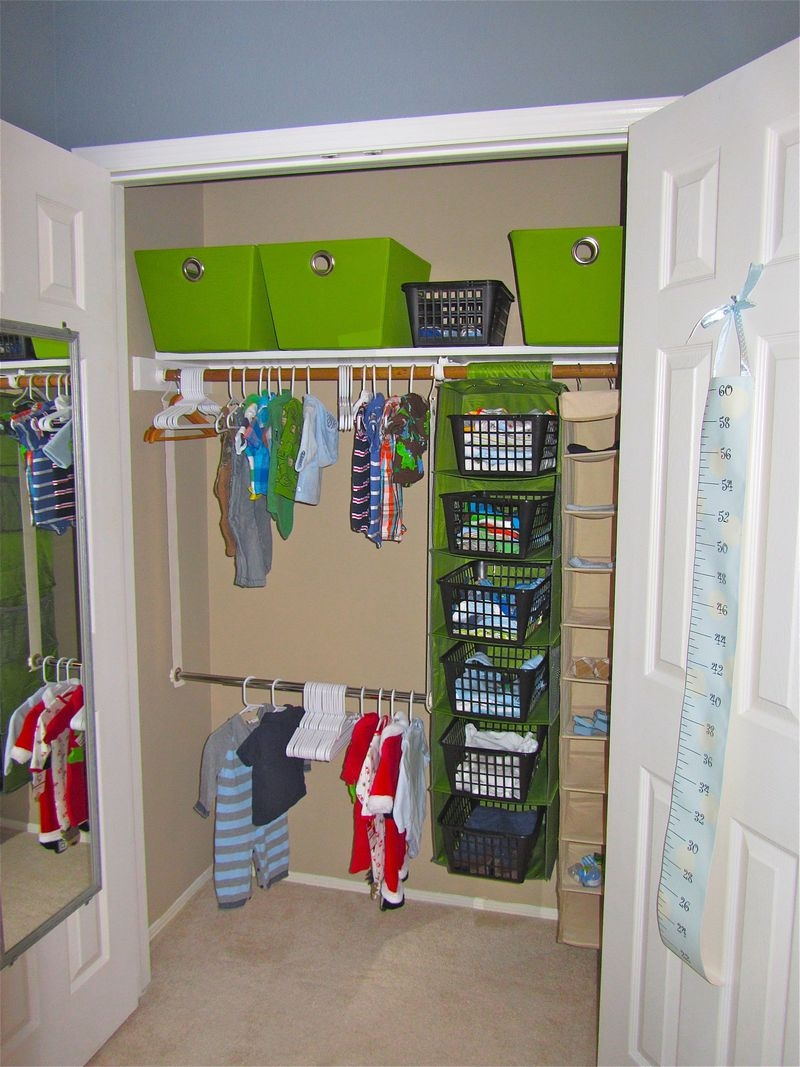 Bedroom Classy Black Wooden Shoes Racks And Chrome Tube Clothes For Wardrobe For Baby Clothes (Image 11 of 25)