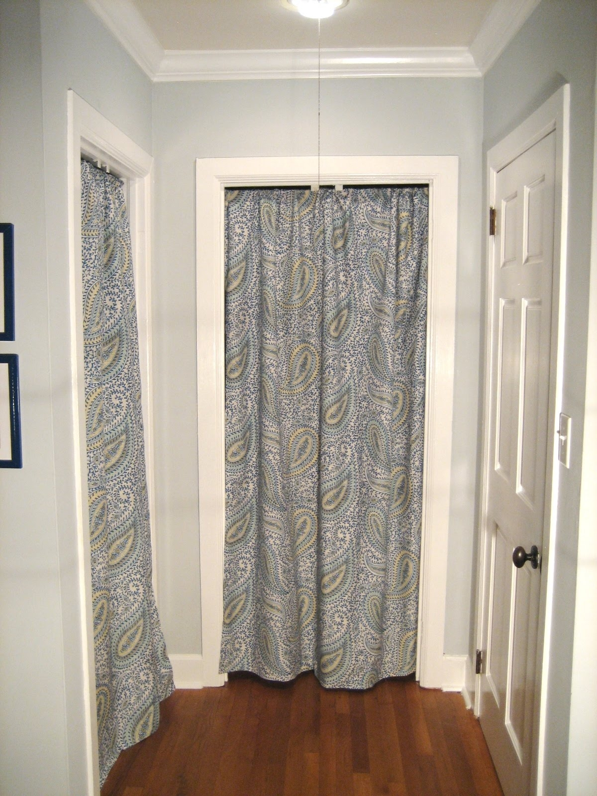 Bedroom Closet Door Curtains Within Fabric Door Curtains (Image 3 of 25)