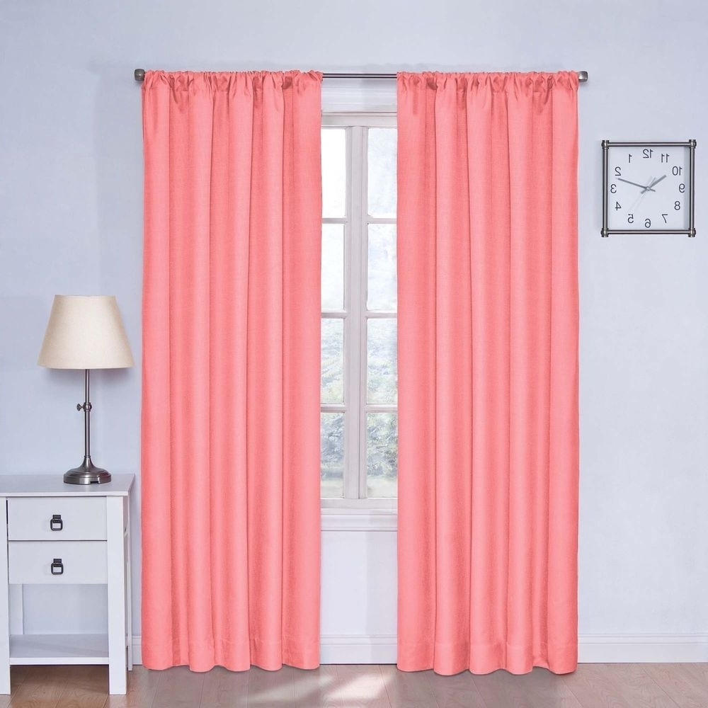 Bedroom Coral Bedroom Curtains Throughout Remarkable Bedroom With Peach Colored Curtains (Image 7 of 25)