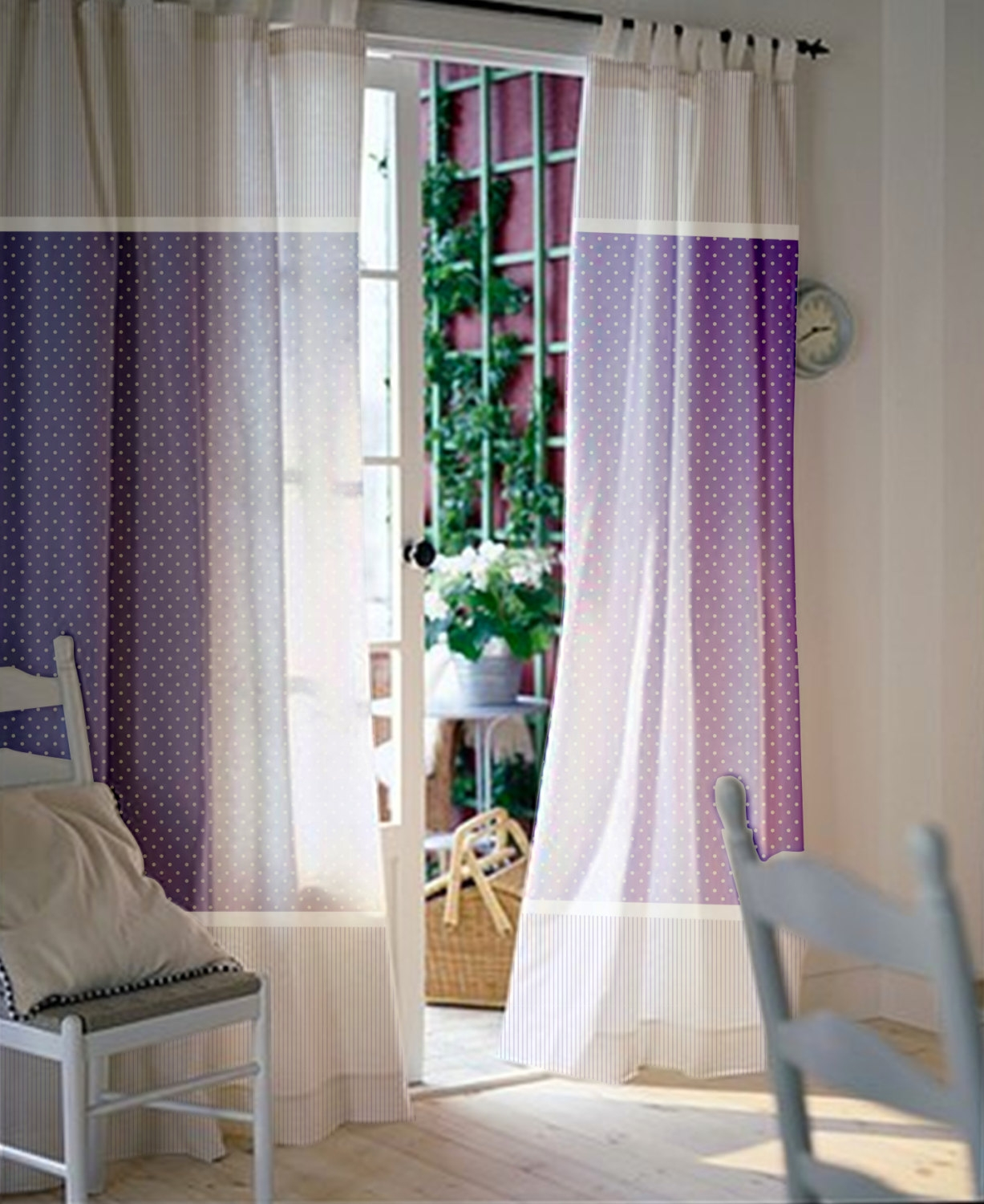 Bedroom Curtain Length Pierpointsprings With Navy And White Polka Dot  Curtains (Image 2 Of 25