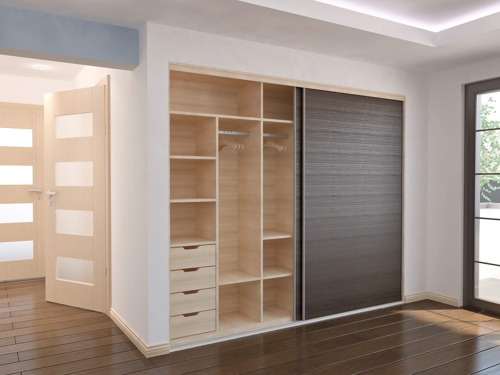 Bedroom Sliding Doors Sliding Wardrobe Doors Kits Bedroom Inside Cupboard Sliding Doors (Image 5 of 25)