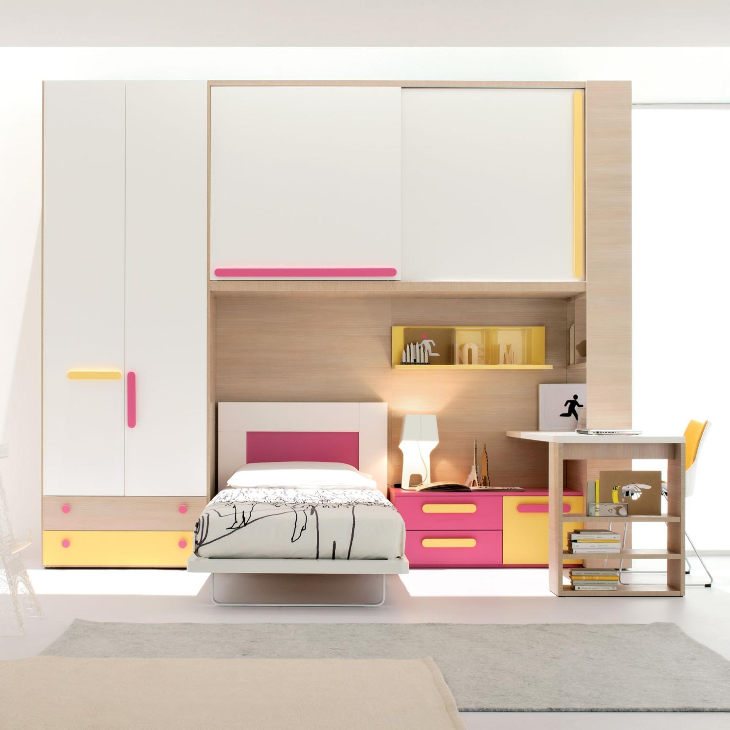 Bedroom Space Saving Ideas Design Using Creative Modern Mixed Pertaining To Space Saving Wardrobes (Image 8 of 25)