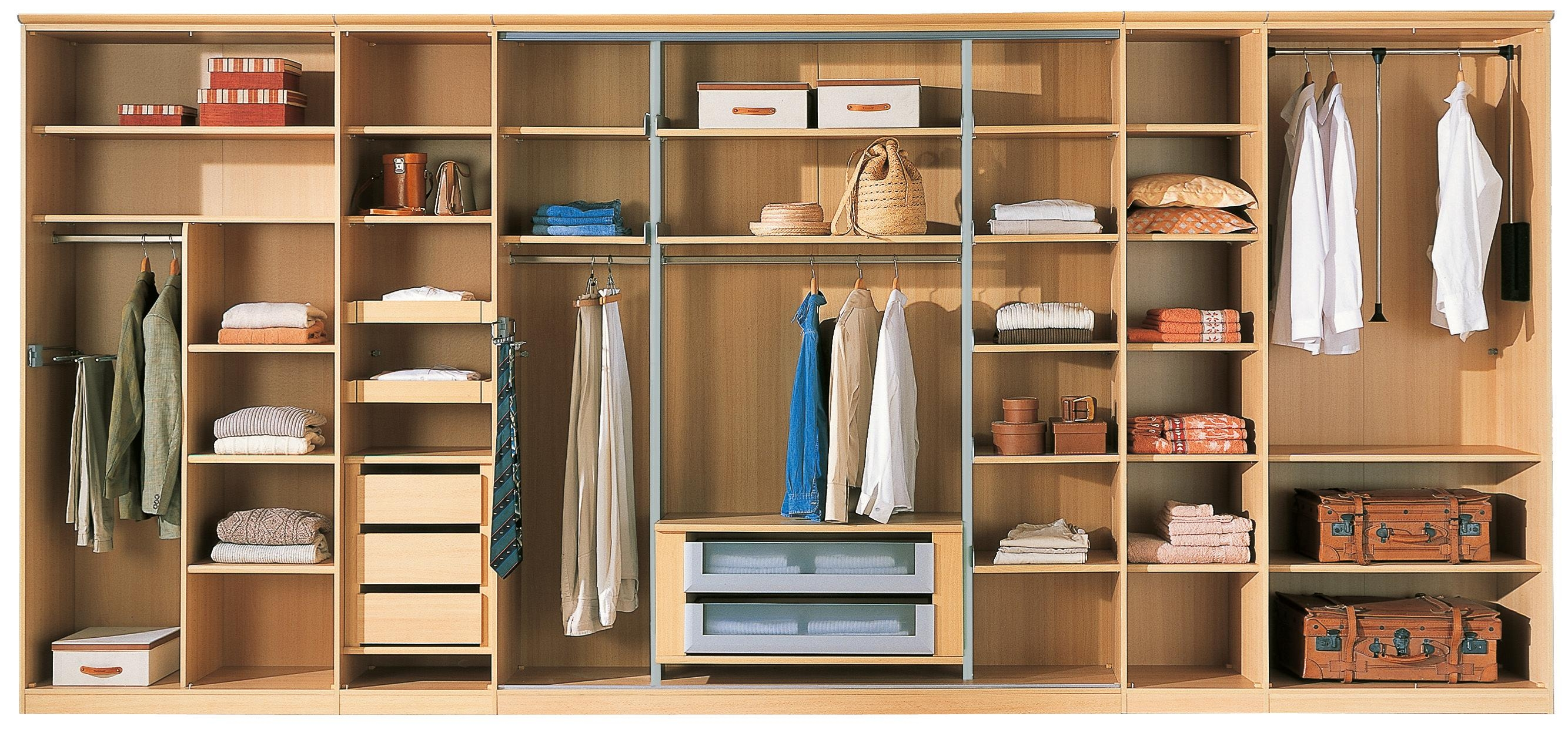 Bedroom Wardrobe Interior Shelves Design Ideas 2017 2018 Pertaining To Wardrobes With Shelves And Drawers (Image 4 of 15)