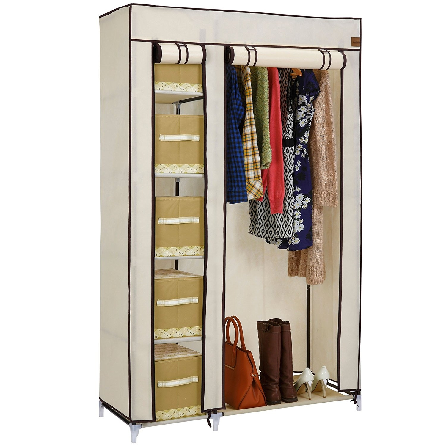 Bedroom Wardrobes Bedroom Furniture Shop Amazon Uk In Double Rail Wardrobe (Image 1 of 15)