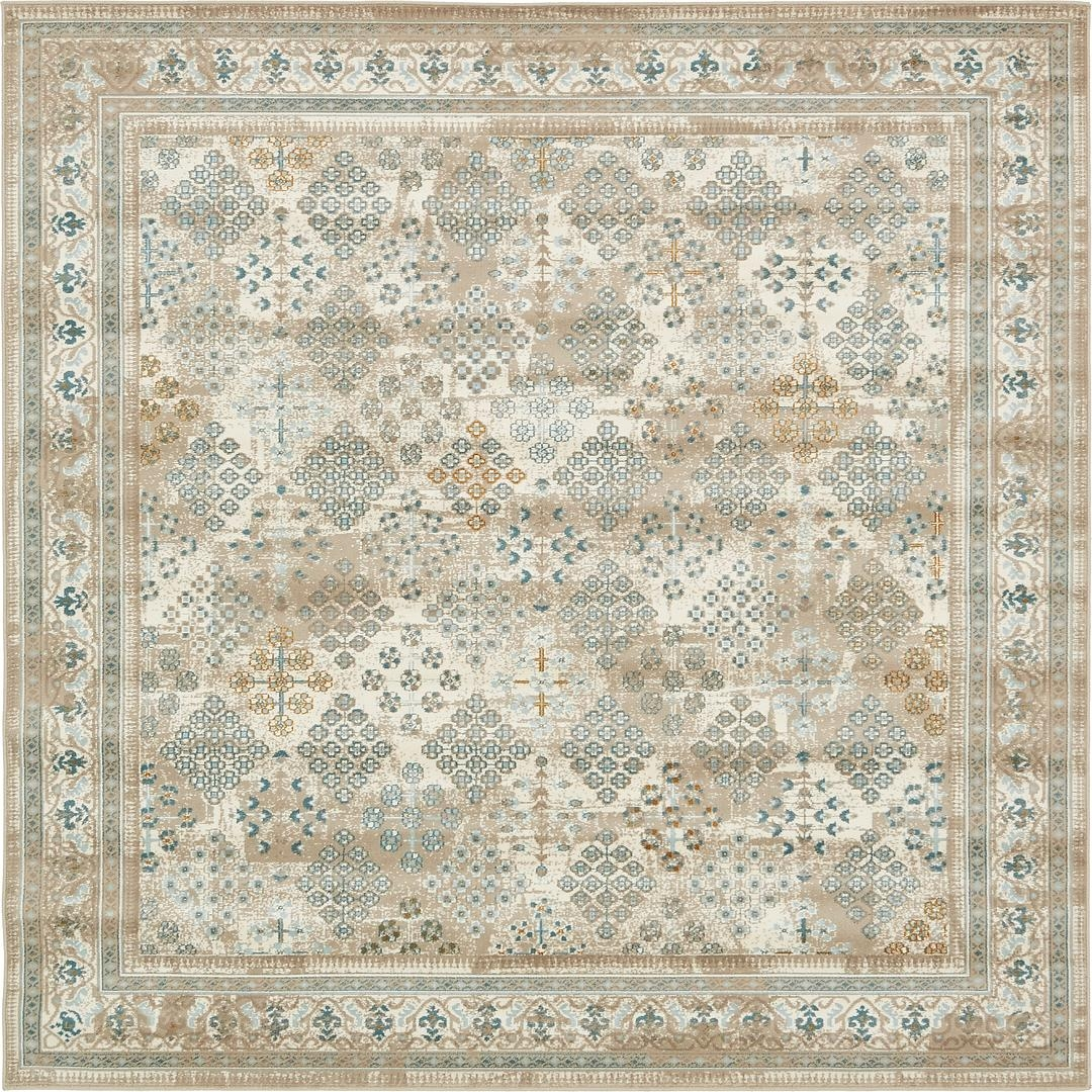 Beige 6 X 6 Montreal Square Rug Area Rugs Esalerugs 6×6 For Inside Square Rugs 6× (Image 4 of 15)
