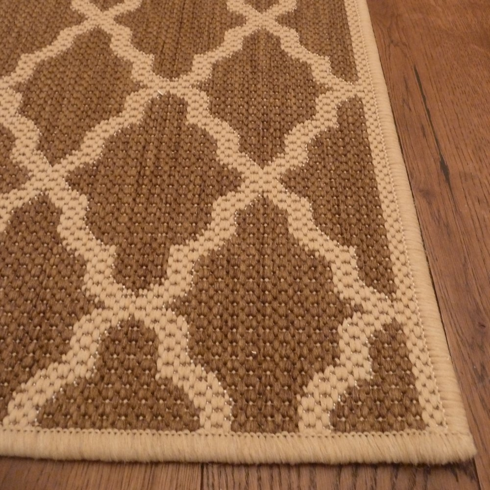 Beige Hallway Carpet Runner Quatrefoil With Hall Runner (Image 1 of 15)