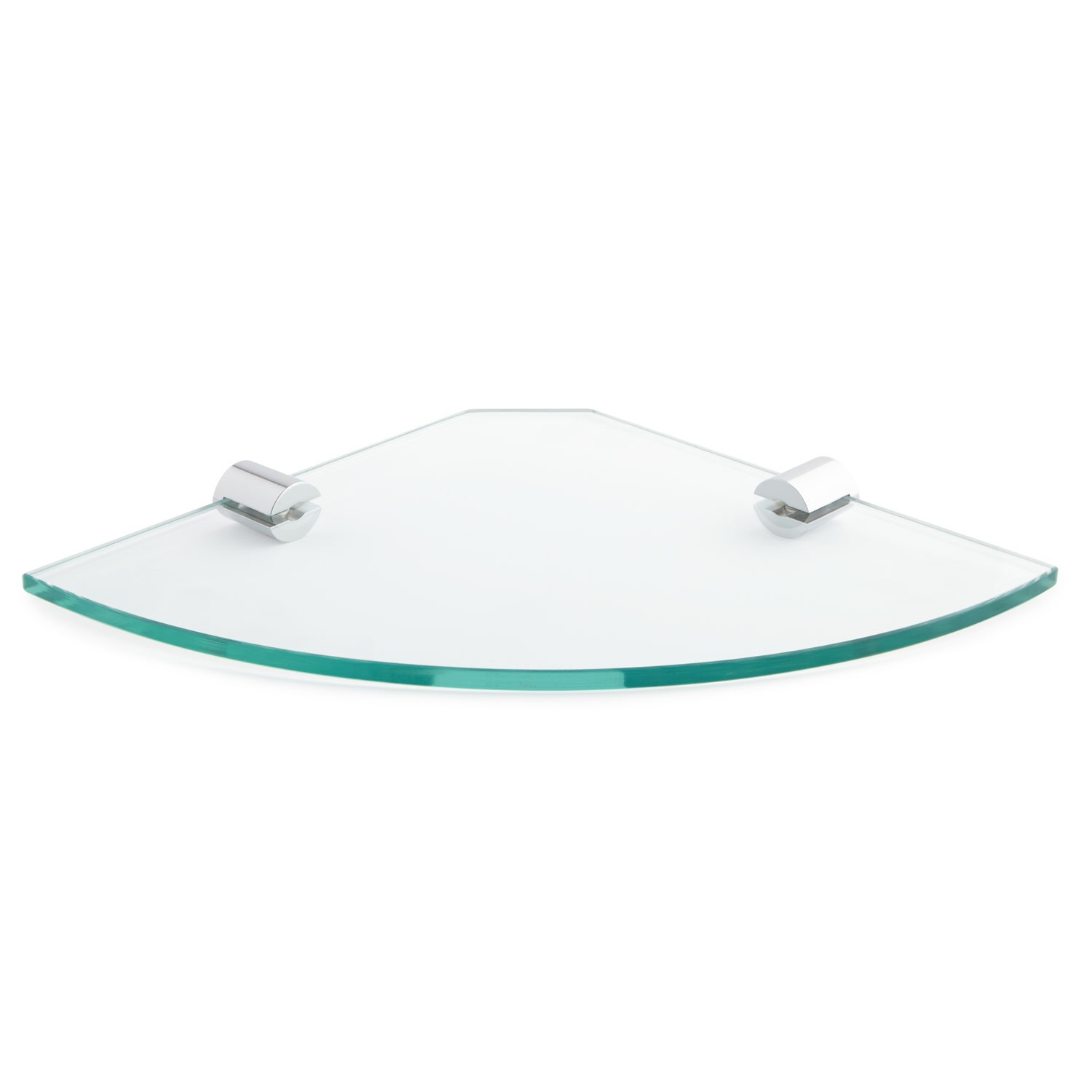 Bennie Tempered Glass Corner Shelf Bathroom Pertaining To Glass Corner Shelves (View 4 of 15)