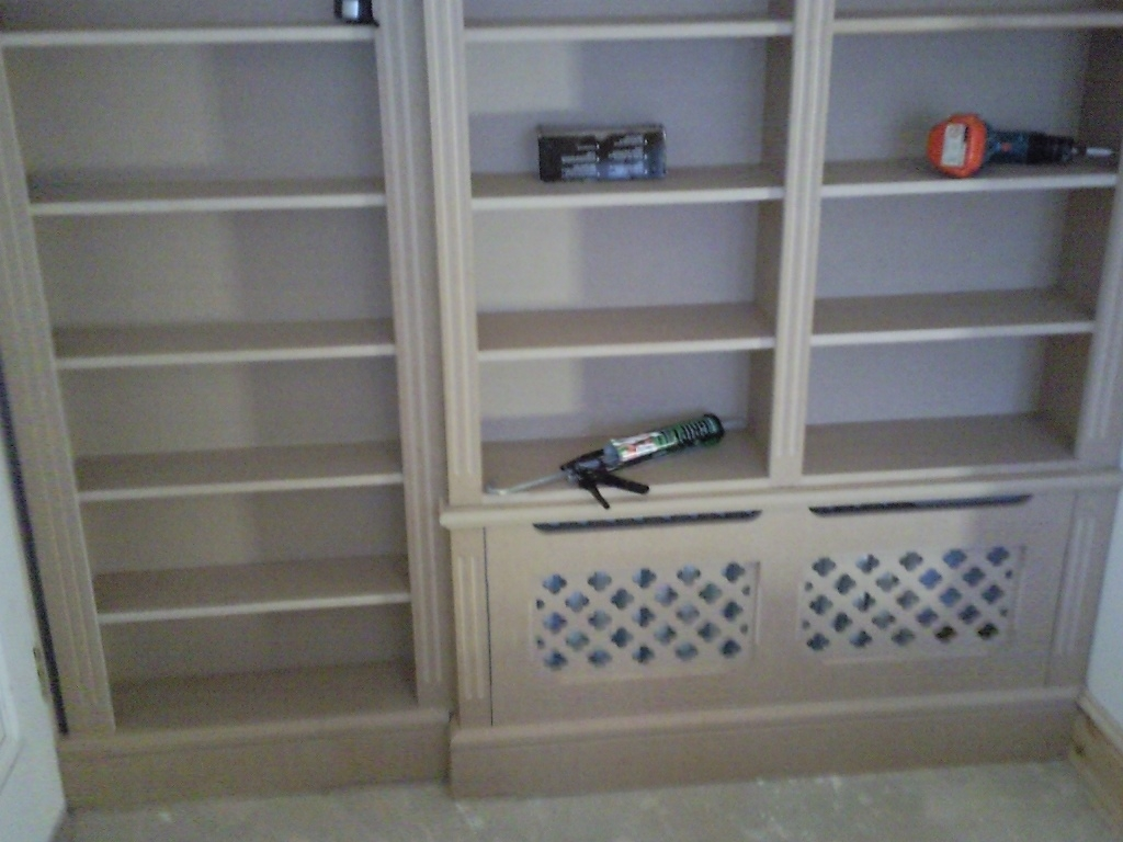 Bespoke Cupboards Bookcases Cabinets Nk West Carpentry Inside Bookcases With Cupboards (View 8 of 15)