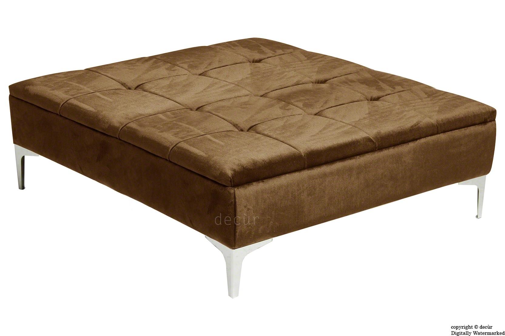 Bespoke Designer Sofas Footstools Bespoke Footstools Bespoke Inside Large Footstools (Image 3 of 15)