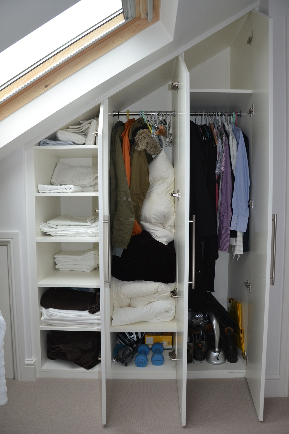 Bespoke Fitted Loft Wardrobes In Fulham South West London Intended For Space Saving Wardrobes (Image 9 of 25)