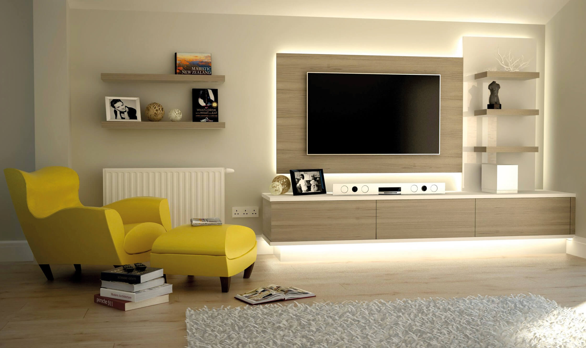 Bespoke Tv Cabinets Bookcases And Storage Units For Over 50 Pertaining To Fitted Cabinets Living Room (Image 1 of 15)