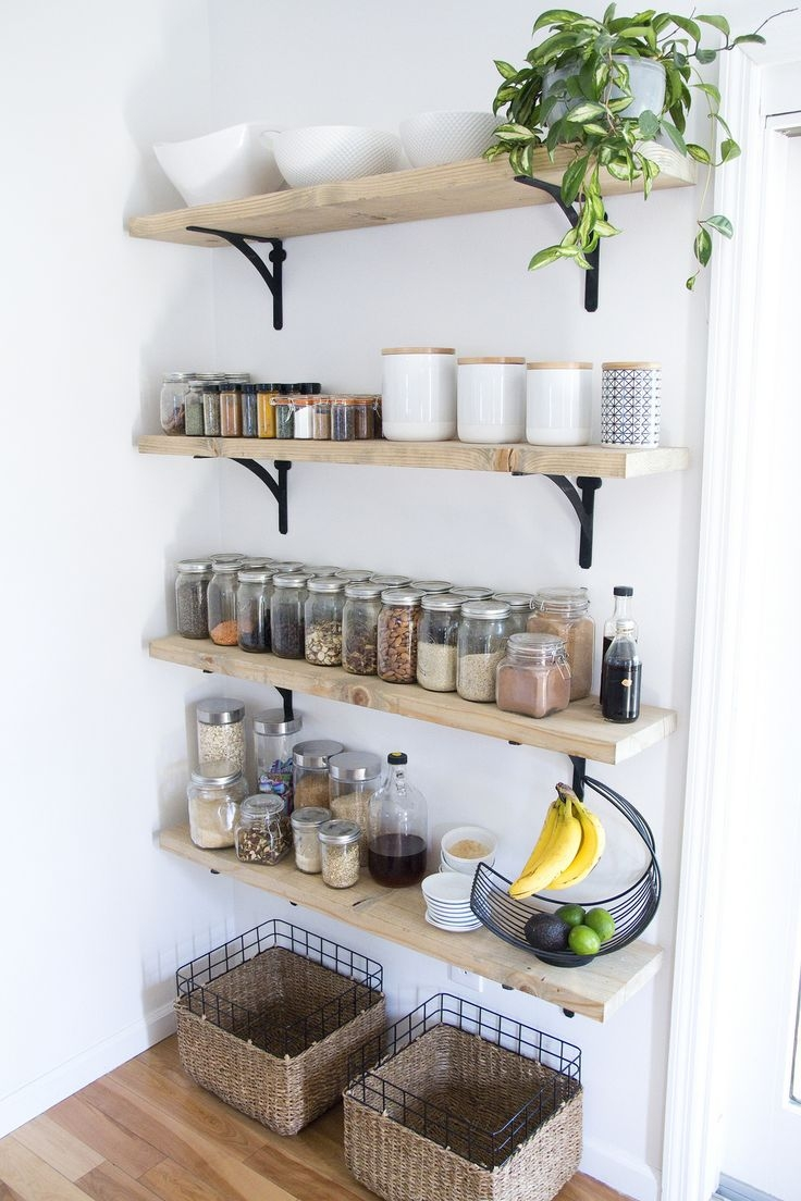Best 10 Kitchen Wall Shelves Ideas On Pinterest Open Shelving In Kitchen Wall Shelves (Image 3 of 15)