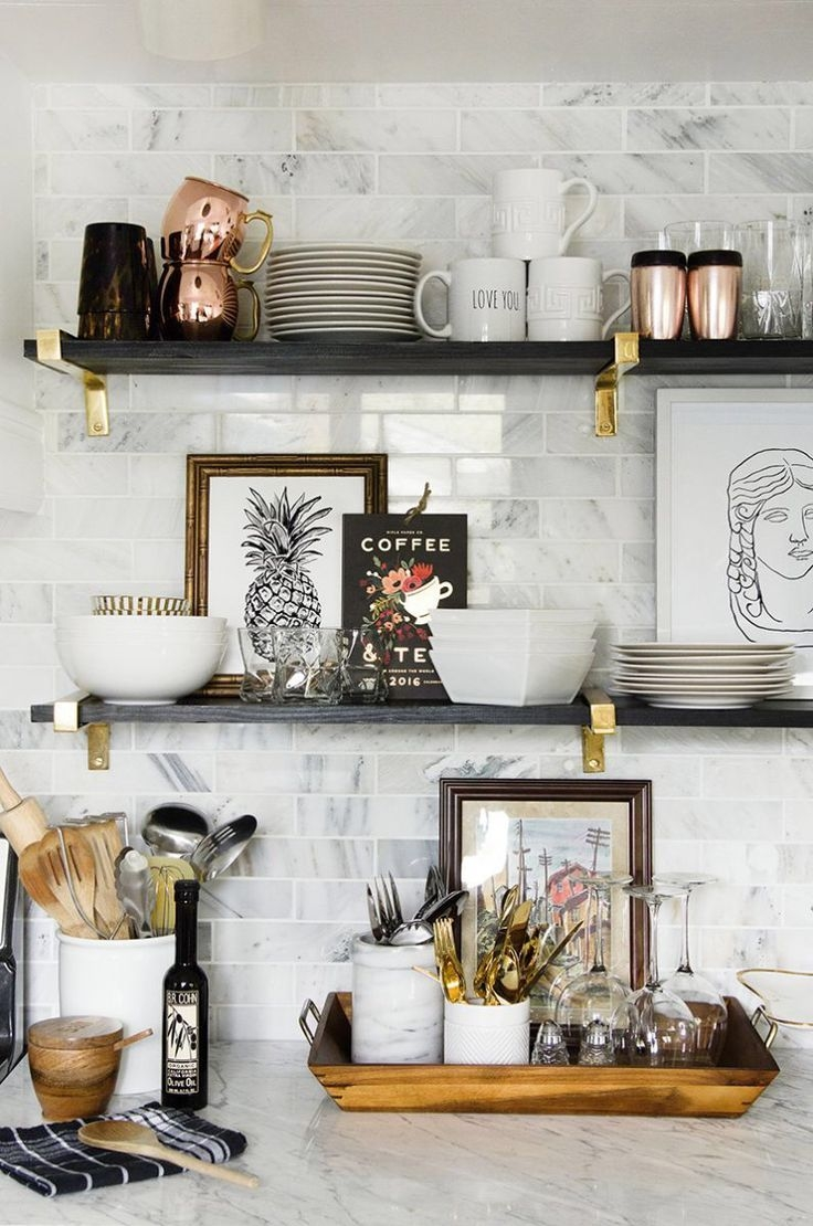 Featured Image of Kitchen Wall Shelves