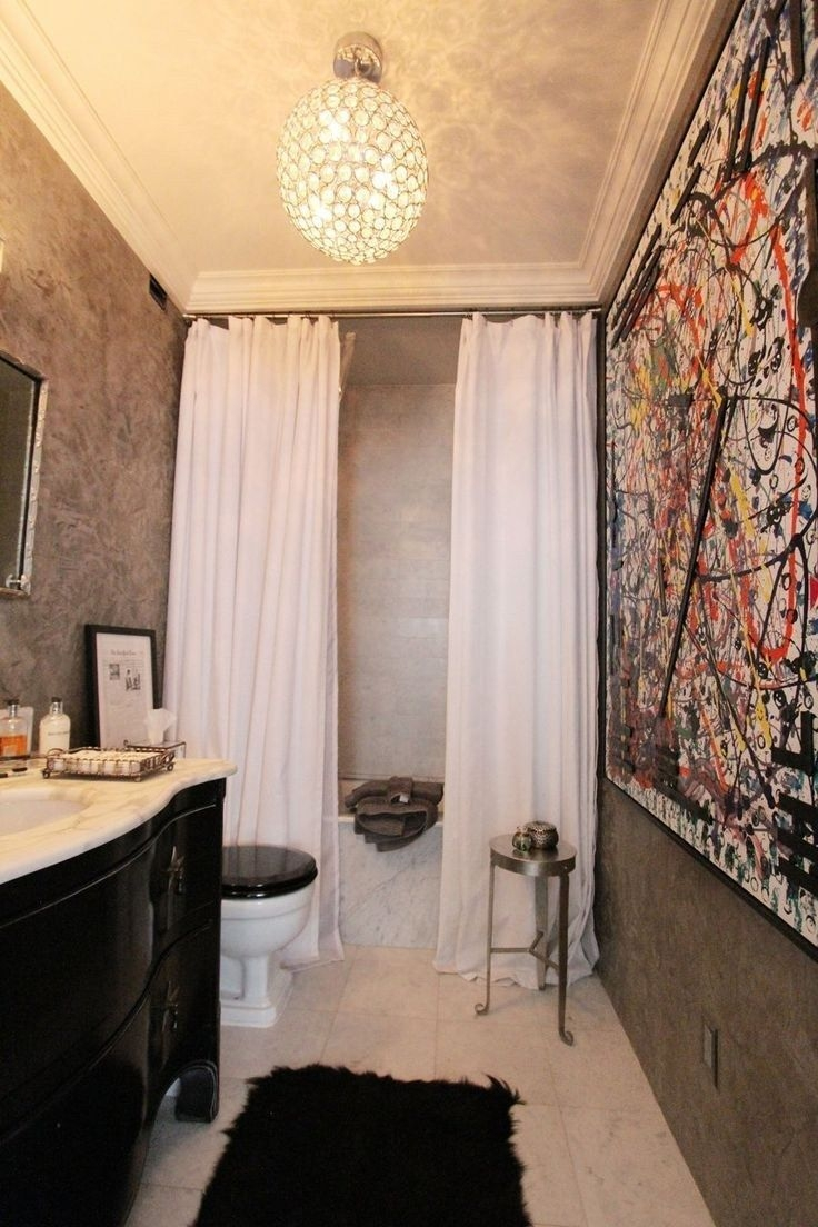 Best 20 Tall Shower Curtains Ideas On Pinterest Blue Bathrooms With Regard To Double Panel Shower Curtains (View 7 of 25)