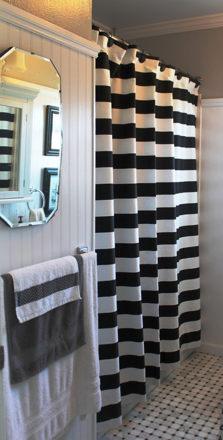Best 25 Black Shower Curtains Ideas On Pinterest Brown Curtains Within Gray Chevron Shower Curtains (Image 2 of 25)
