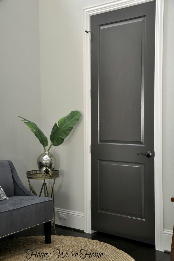 Best 25 Dark Doors Ideas On Pinterest Dark Interior Doors With Regard To Hallway Cupboard Doors (Image 6 of 25)
