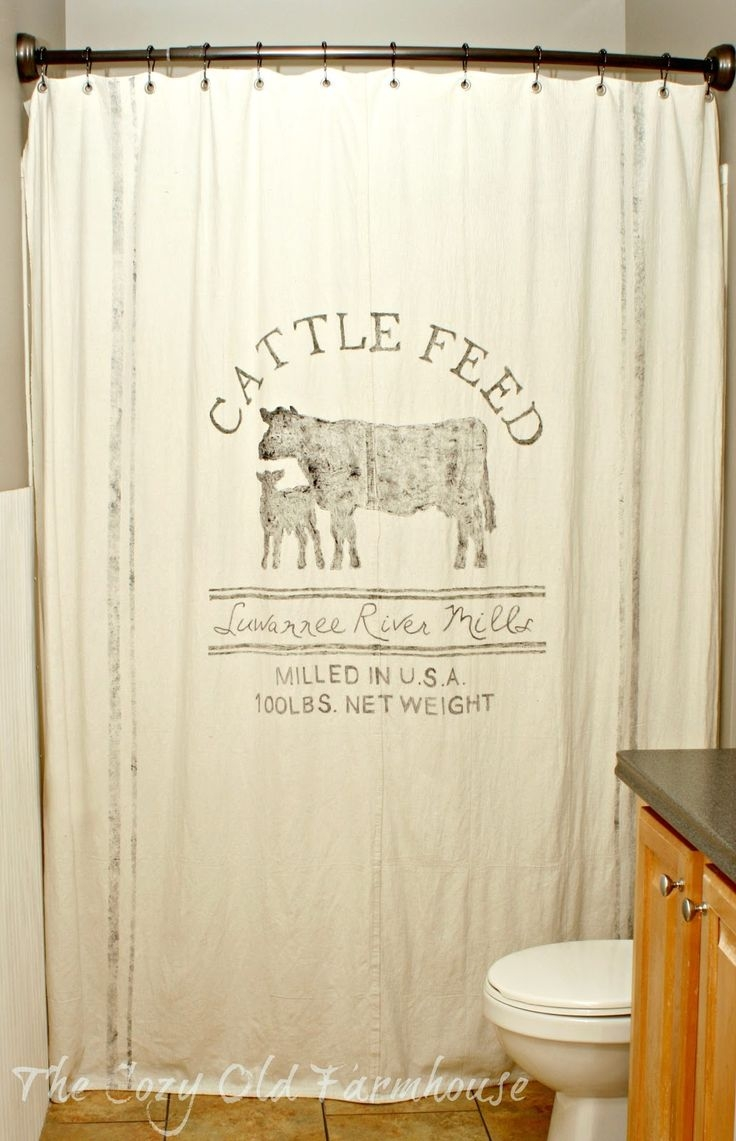 Best 25 Farmhouse Shower Curtain Rods Ideas On Pinterest Shower Throughout Odd Shower Curtains (Image 3 of 25)