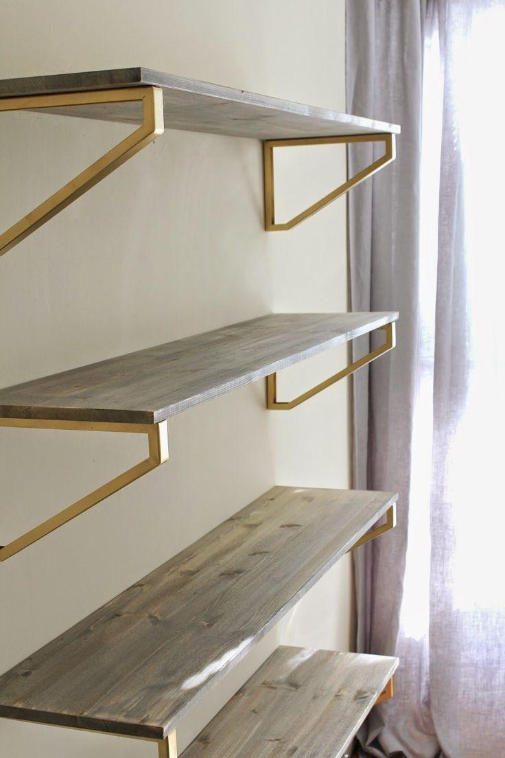 Best 25 Gold Shelves Ideas On Pinterest For Glass Shelf Brackets Floating On Air (Image 1 of 15)