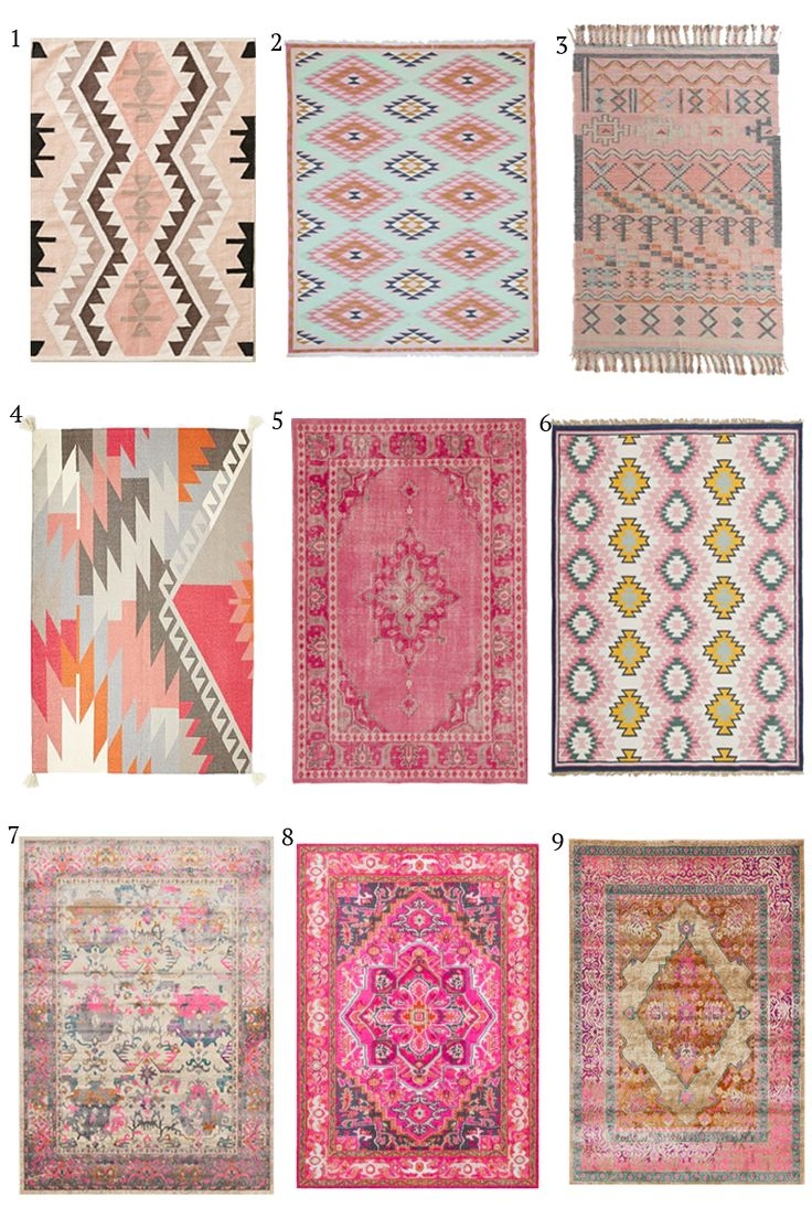 Best 25 Kilim Rugs Ideas On Pinterest Bohemian Rug Kilim With Regard To Pink Pattern Rugs (Image 7 of 15)