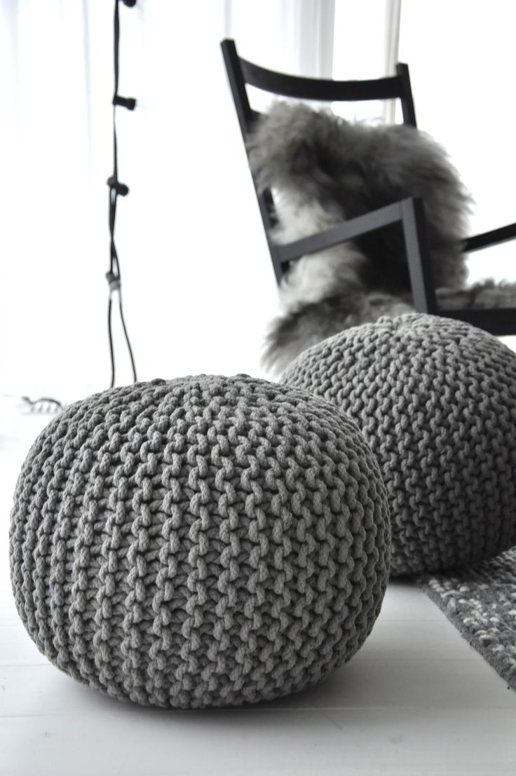 Best 25 Knitted Pouffe Ideas On Pinterest Knitted Pouf Large For Tesco Footstools And Pouffes (Image 3 of 15)