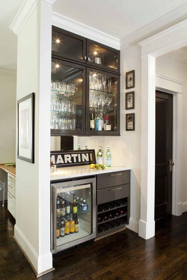 Best 25 Modern Home Bar Ideas On Pinterest Within Glass Shelves For Bar Area (Image 4 of 15)