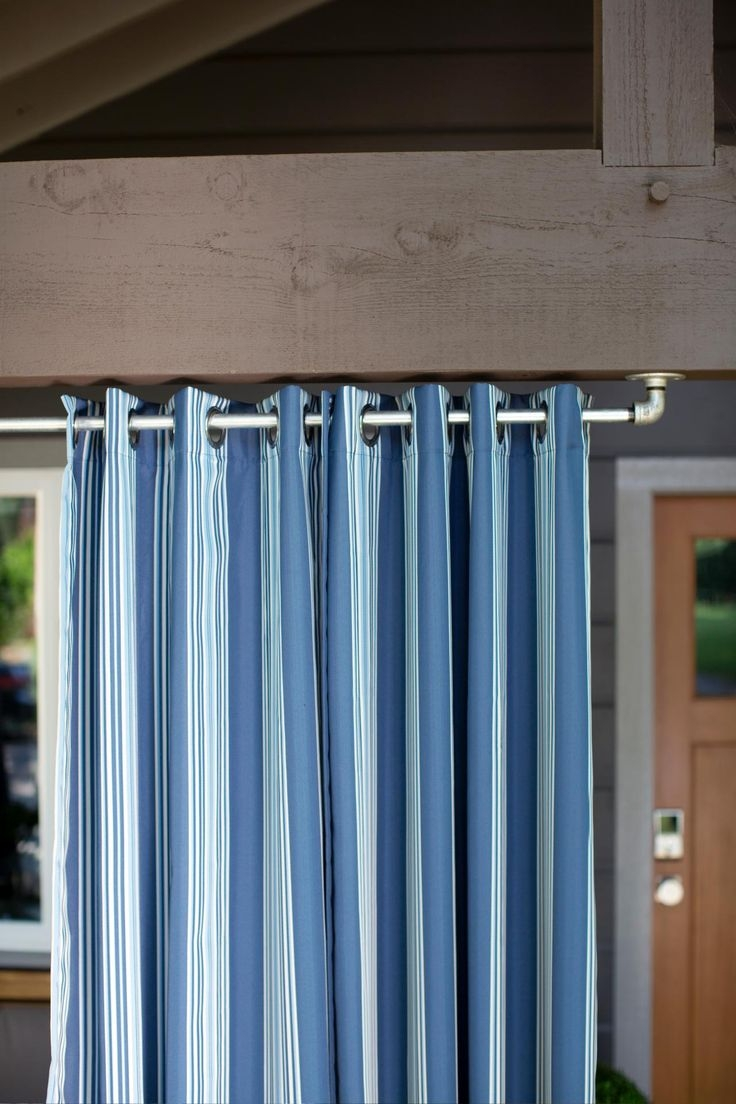 Best 25 Outdoor Curtain Rods Ideas Only On Pinterest Outdoor Regarding Extra Long Outdoor Curtain Rods (Image 1 of 25)