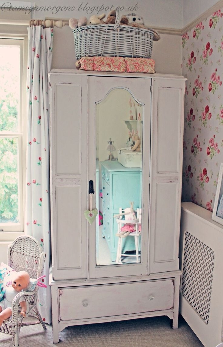 Best 25 Shab Chic Wardrobe Ideas On Pinterest French Bedroom Throughout Childrens Pink Wardrobes (Image 5 of 25)