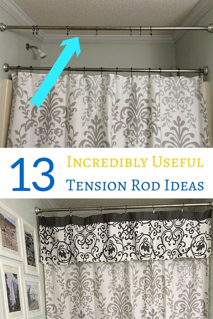 Best 25 Tension Rod Curtains Ideas On Pinterest Kitchen Inside Deep Curtain Rods (View 23 of 25)